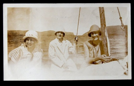 John W. Newdigate album - sailing on the Knysna Estuary (Una on right)